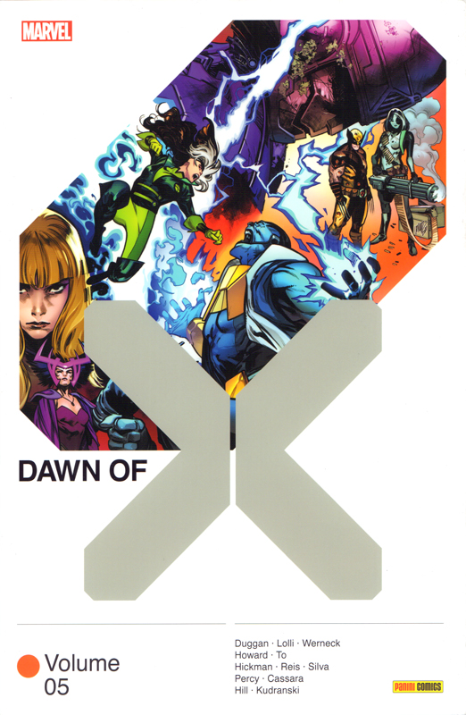 Dawn of X T5, comics chez Panini Comics de Hickman, Howard, Duggan, Hill, Percy, Kudranski, Cassara, Silva, To, Reis, Lolli, Werneck, Blee, d' Armata, Arciniega, Gracia, Rosenberg, White, Dauterman