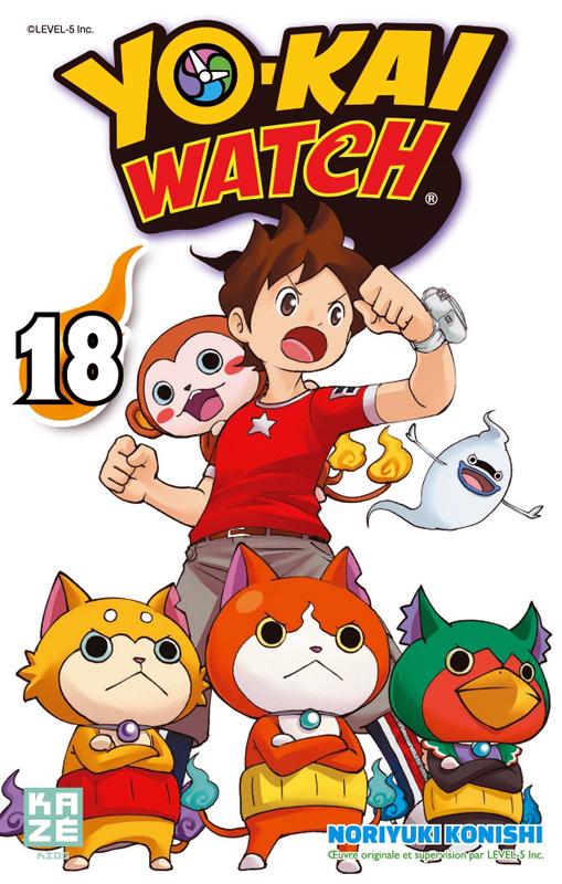 Yo-kai watch  T18, manga chez Kazé manga de Konishi, Level-5
