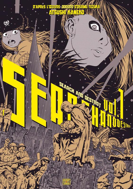 Search & destroy T1, manga chez Delcourt Tonkam de Kaneko, Tezuka