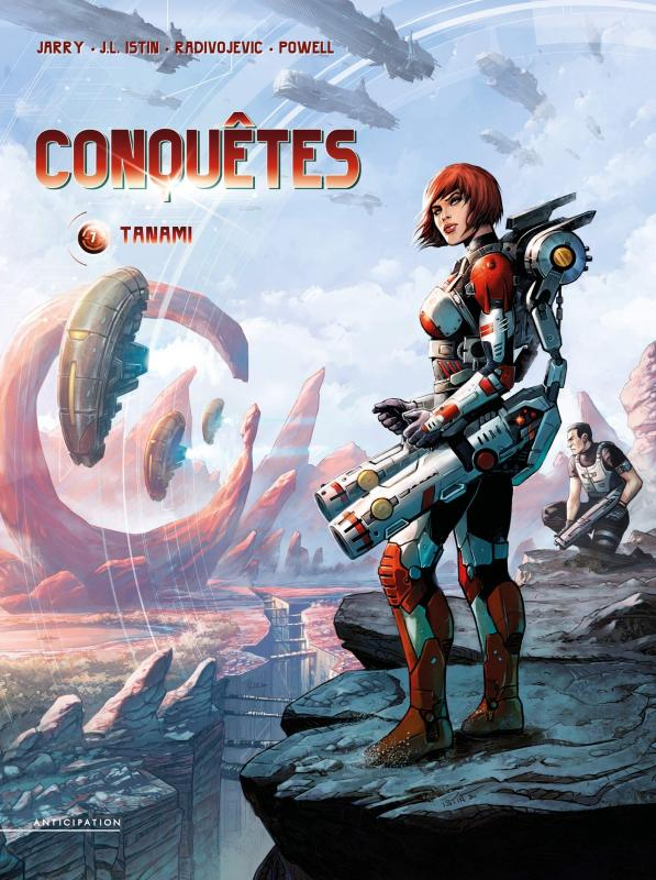 Conquêtes T7 : Tanami (0), bd chez Soleil de Jarry, Istin, Radivojevic, Powell