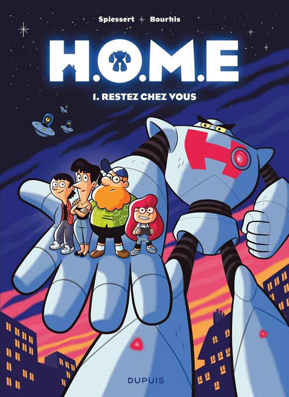 H.O.M.E T1 : Restez chez vous (0), bd chez Dupuis de Bourhis, Spiessert