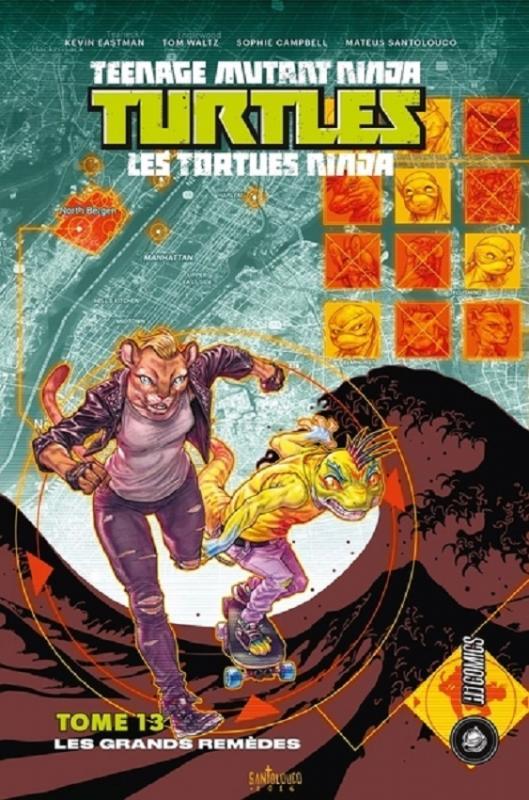 Les Tortues Ninja - TMNT - Teenage Mutant Ninja Turtles T13 : Les grands remèdes (0), comics chez Hi Comics de Curnow, Eastman, Waltz, Campbell, Santolouco, Pattison