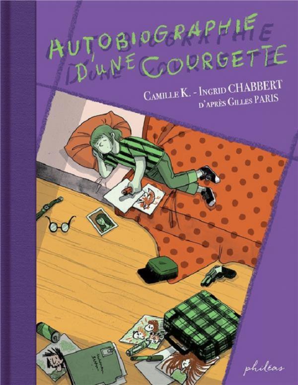 Autobiographie d'une courgette, bd chez Philéas de Chabbert, Camille K.
