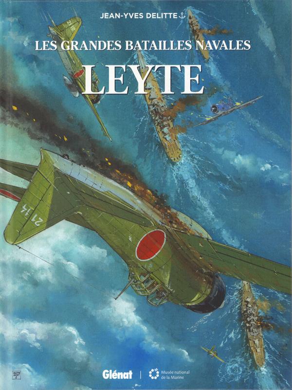 Les Grandes batailles navales T17 : Leyte (0), bd chez Glénat de Delitte, Delitte