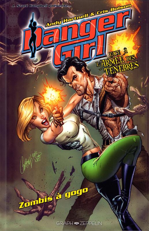 Danger girl : Zombis à gogo (0), comics chez Graph Zeppelin de Hartnell, Bolson, Menyz, Lucas, Campbell