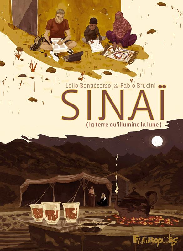 Sinaï, bd chez Futuropolis de Brucini, Bonaccorso, Braccini, la Malfa