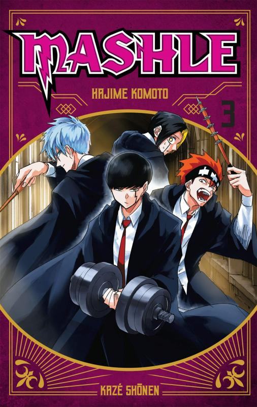 Mashle T3, manga chez Kazé manga de Kômoto