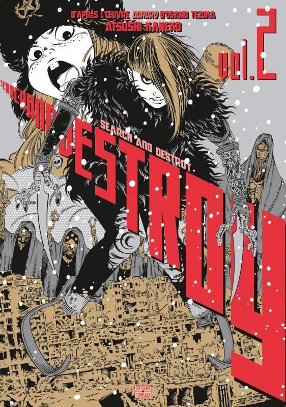Search & destroy T2, manga chez Delcourt Tonkam de Tezuka, Kaneko