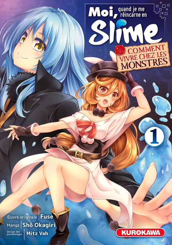 Moi quand je me réincarne en slime - Comment vivre chez les monstres T1, manga chez Kurokawa de Fuse, Okagiri