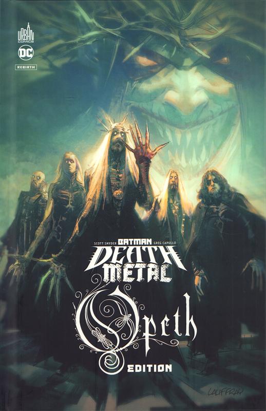Batman Death Metal T4 : Opeth Edition (0), comics chez Urban Comics de Snyder, Capullo, FCO Plascencia, Lauffray