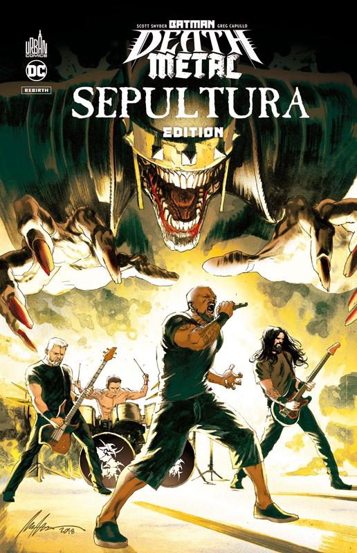 Batman Death Metal T5 : Batman Death Metal #5 Sepultura Edition (0), comics chez Urban Comics de Snyder, Capullo, FCO Plascencia, Albuquerque