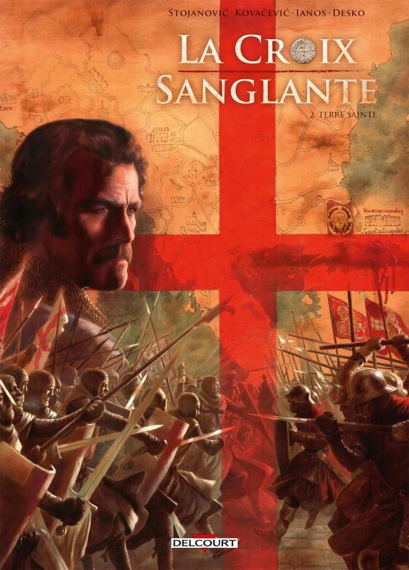 La Croix sanglante T2 : Terre sainte (0), bd chez Delcourt de Stojanovic, Catalin, Kovacevic, Desko