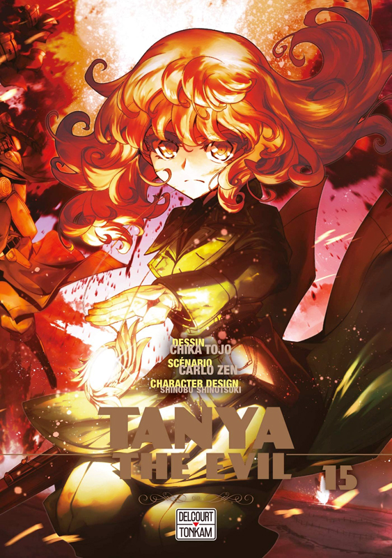 Tanya the evil T15, manga chez Delcourt Tonkam de Carlo, Tôjô
