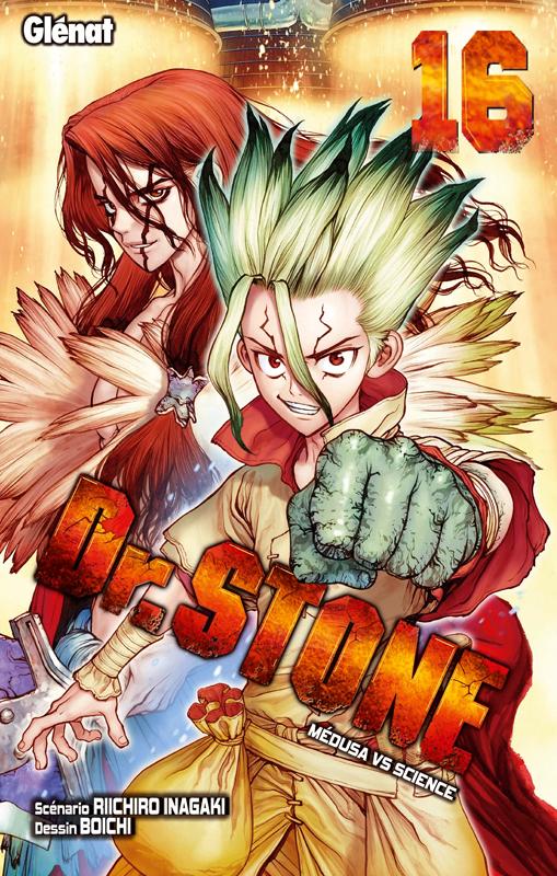 Dr Stone T16, manga chez Glénat de Inagaki, Boichi