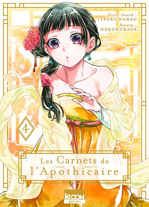 Les carnets de l'apothicaire  T4, manga chez Ki-oon de Hyûga, Nanao, Neko