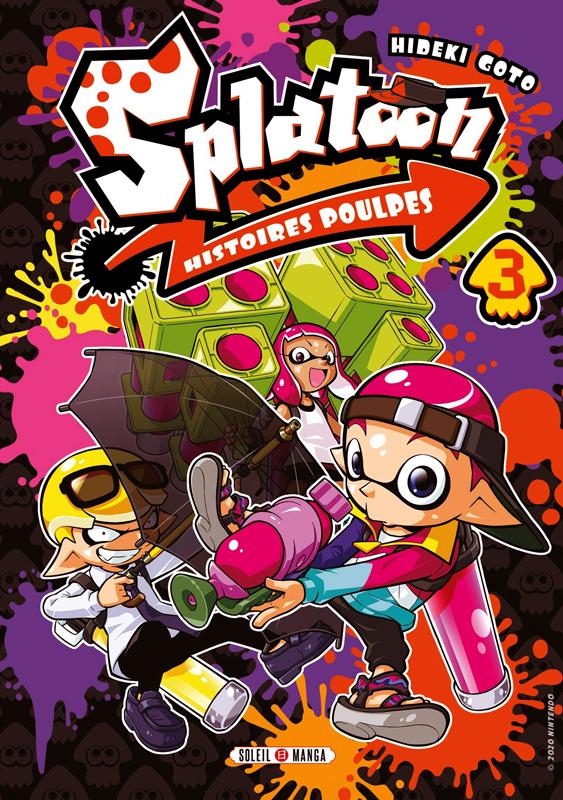 Splatoon Histoires poulpes T3, manga chez Soleil de Gotô