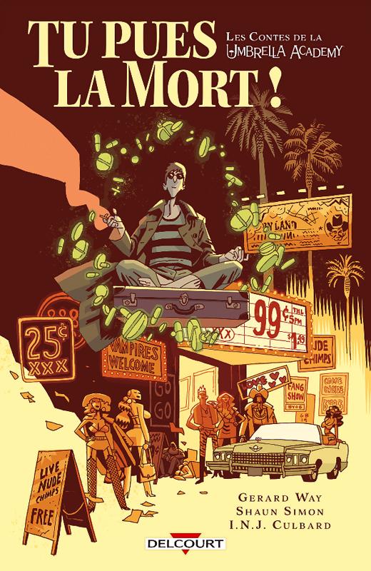 Umbrella Academy : Les contes de la Umbrella Academy : Tu pues la mort ! (0), comics chez Delcourt de Simon, Way, Culbard, Ba