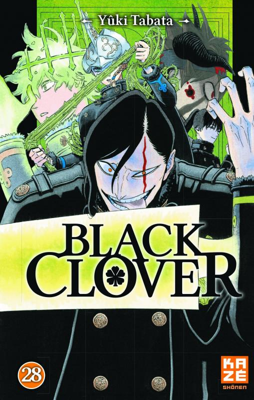 Black clover T28, manga chez Kazé manga de Tabata