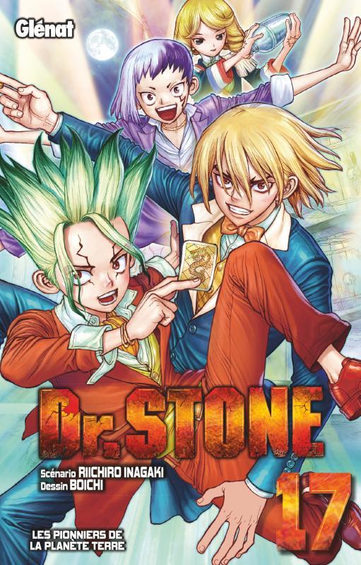 Dr Stone T17, manga chez Glénat de Inagaki, Boichi