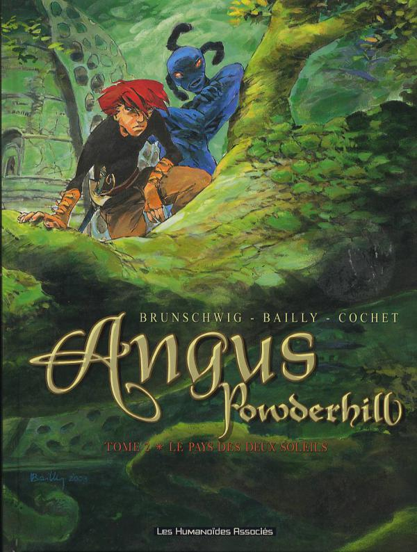 Angus Powderhill T2 : Le pays des deux soleils (0), bd chez Les Humanoïdes Associés de Brunschwig, Bailly, Cochet