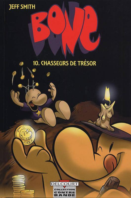 Bone – Edition N&B, T10 : Chasseurs de trésor (0), comics chez Delcourt de Smith