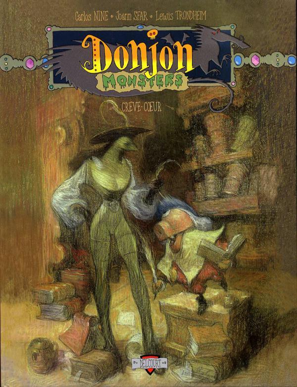 Donjon Monsters T8 : Crève-Coeur (0), bd chez Delcourt de Trondheim, Sfar, Nine