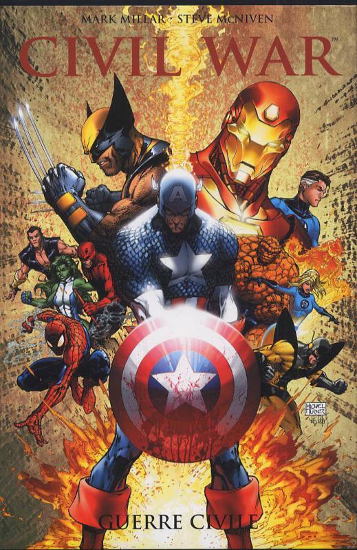 Civil War T1 : Guerre civile (0), comics chez Panini Comics de Millar, Bendis, Cheung, Chaykin, Yu, Smith, McNiven, Ferry, Coipel, Ponsor, White, Villarubia, Hollowell, Stewart, McCaig, Turner