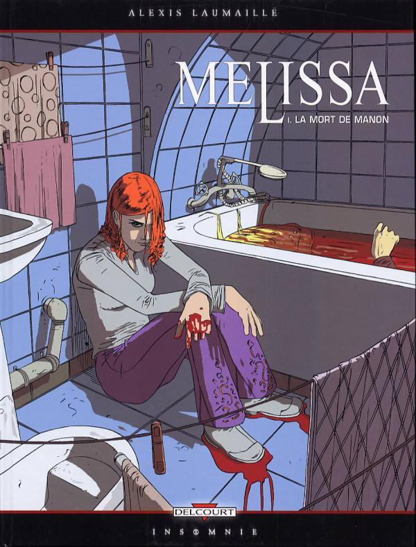 Melissa T1 : La mort de Melissa (0), bd chez Delcourt de Laumaille