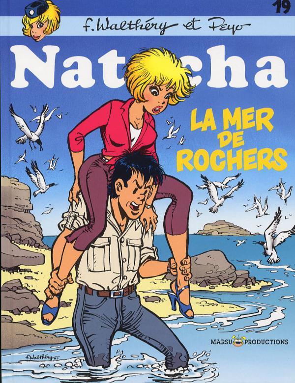 Natacha T19 : La mer de rochers (0), bd chez Marsu Productions de Peyo, Walthéry, Cerise