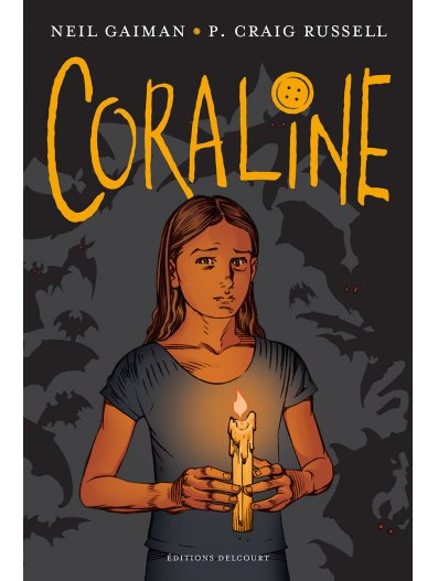 Coraline, comics chez Delcourt de Gaiman, Russell, Klein