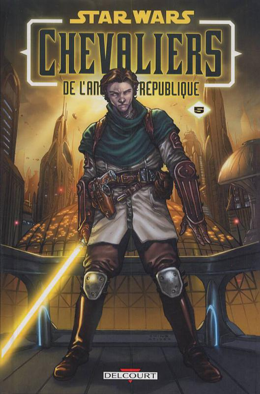 Star Wars (revue) – Chevaliers de l'ancienne république, T5 : Sans pitié (0), comics chez Delcourt de Jackson Miller, Dazo, Atiyeh, Ching