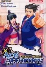 Ace attorney Phoenix Wright T1, manga chez Kurokawa de Kuroda, Capcom , Maekawa