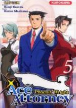 Ace attorney Phoenix Wright T5, manga chez Kurokawa de Kuroda, Capcom , Maekawa