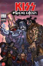 Kiss : Psycho circus T5, comics chez Semic de Holguin, Medina, Kemp, Troy, Haberlin, Depuy