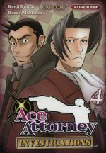 Ace attorney Investigations T4, manga chez Kurokawa de Capcom , Kuroda, Maekawa