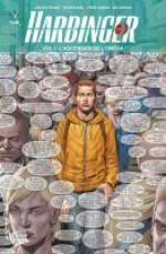 Harbinger – version librairie, T1 : L'éveil de l'Oméga (0), comics chez Panini Comics de Dysart, Clarke, Larosa, Evans, Muniz, Sotomayor, Hannin, Cox, Baumann, Lozzi