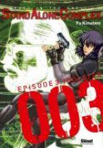 Ghost in the Shell - Stand alone complex  T3, manga chez Glénat de Shirow, Kinutani