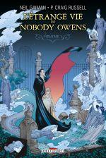 L'étrange vie de Nobody Owens T1, comics chez Delcourt de Russell, Gaiman, Showman, Hampton, Thompson, Scott, Harris, Kindzierski