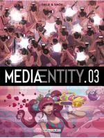 MediaEntity T3, bd chez Delcourt de Simon, Emilie, Hubert
