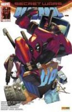 Secret Wars : Deadpool T4 : La traque (0), comics chez Panini Comics de Young, Bunn, Maurer, Yost, Mahfood, Smith, Lolli, Buffagni, Pinna, Rosenberg, Beaulieu, Aburtov, Stewart, Redmond, Kozaki