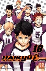 Haikyû, les as du volley T18, manga chez Kazé manga de Furudate