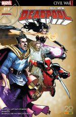 All-New Deadpool (revue) T10 : Le crépuscule de la magie (0), comics chez Panini Comics de Duggan, Bunn, Koblish, Coello, Hawthorne, Guru efx, Bellaire, Ramos
