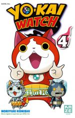 Yo-kai watch  T4, manga chez Kazé manga de Konishi, Level-5