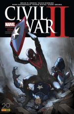 Civil War II T4, comics chez Panini Comics de Shalvey, Guggenheim, Bendis, Bachs, Marquez, Brown, Ponsor, Bellaire, Redmond, Djurdjevic