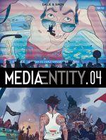 MediaEntity T4, bd chez Delcourt de Simon, Emilie, Hubert