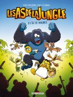 Les As de la jungle : A l'île Maurice (0), bd chez Delcourt de Mourier, Dav, Esteban