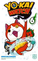 Yo-kai watch  T6, manga chez Kazé manga de Konishi, Level-5