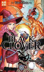 Black clover T10, manga chez Kazé manga de Tabata