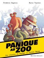 Une Enquête de Poulpe et Castor Burma T1 : Panique au Zoo (0), bd chez Delcourt de Bagères, Voyelle, Alvarez