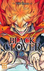 Black clover T15, manga chez Kazé manga de Tabata